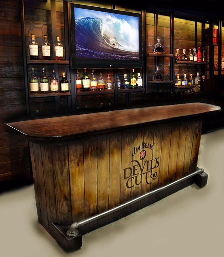 Man Cave Xchange : Home bar custom hand built rustic whiskey pub man cave