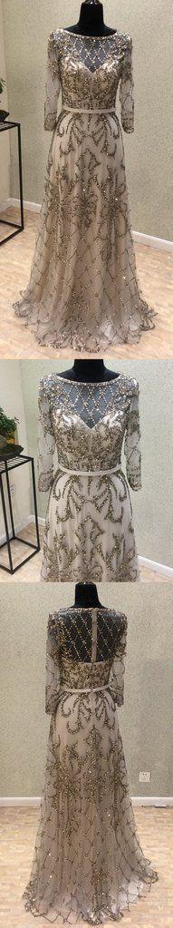 formal long sleeves sparkle long prom dress, PD8870#promdress #fashion #shopping #dresses #eveningdresses #2018prom