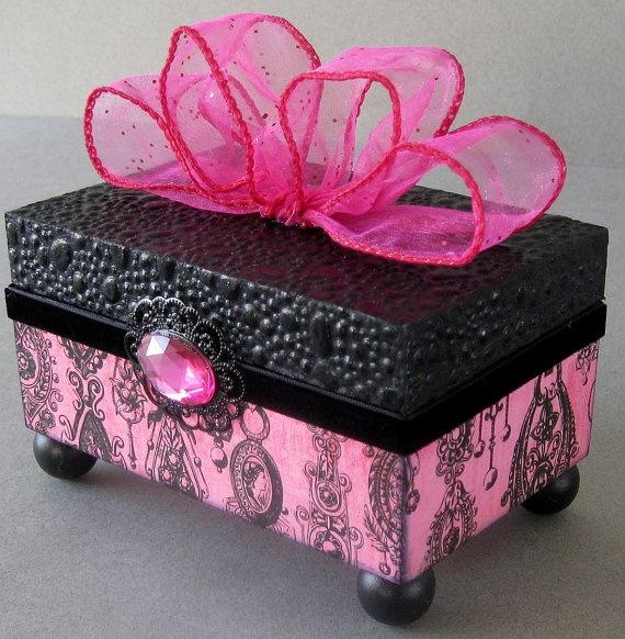 Victorian Gem Decorative Box by funkyart08 on Etsy, $32.00