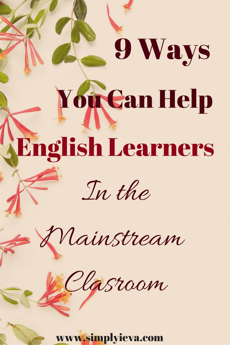 ESL teaching and support in the mainstream classroom. Tips for classroom teachers with ESL students