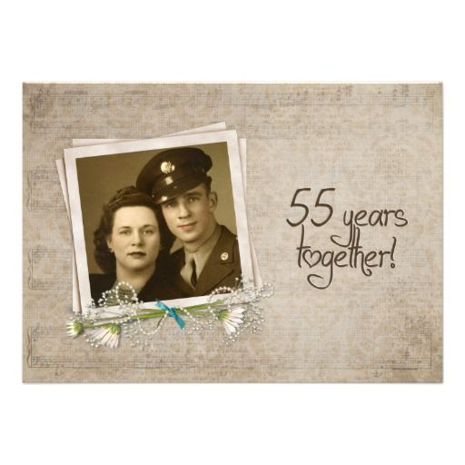 55th Wedding Anniversary Vow Renewal Custom Announcement
