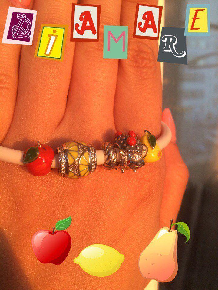 """Рубрика """"Мой первый браслет Diamare"""", чудесный летний коллаж от нашей покупательницы Марины."""