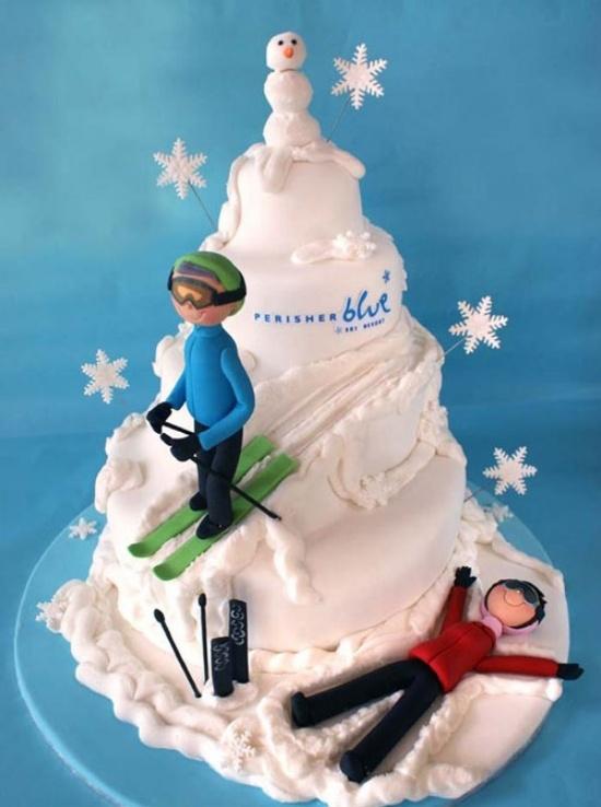 Cake Art History : Mountain Skiing Cakes Pinterest