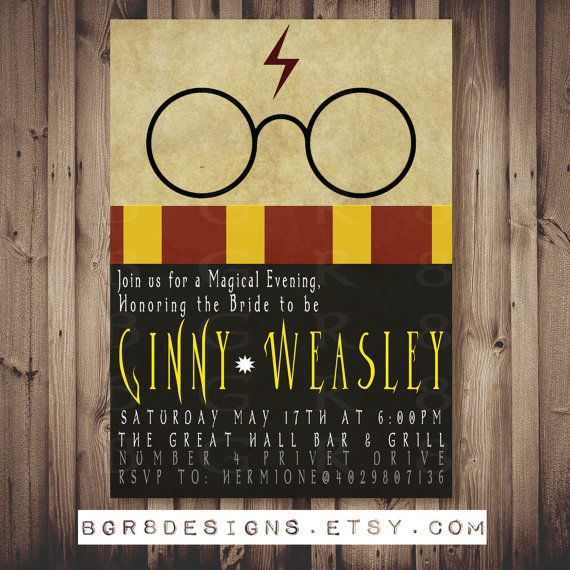 Harry Potter Baby Shower: HARRY POTTER Inspired Bridal Shower / Bachelorette / Baby