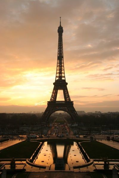 Beautiful shot of the Eiffel Tower