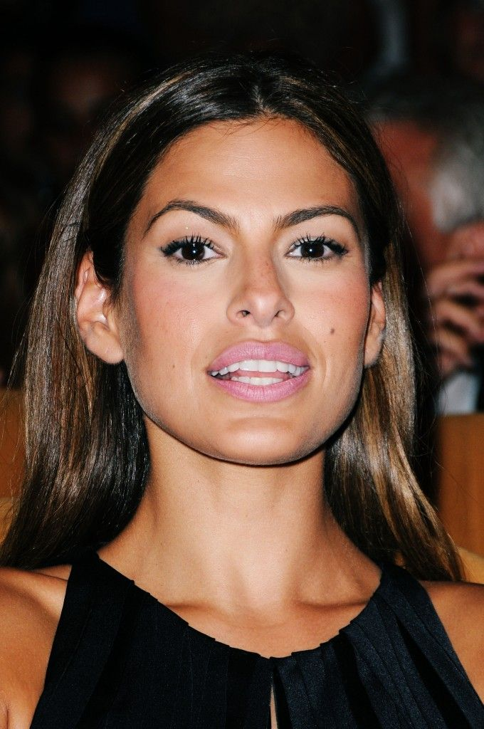 Eva Mendes...even the most 'perfect' looking brows aren't perfect. Eva's brows are individually different but together they work.