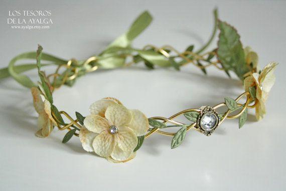 corona medieval   tocado flores