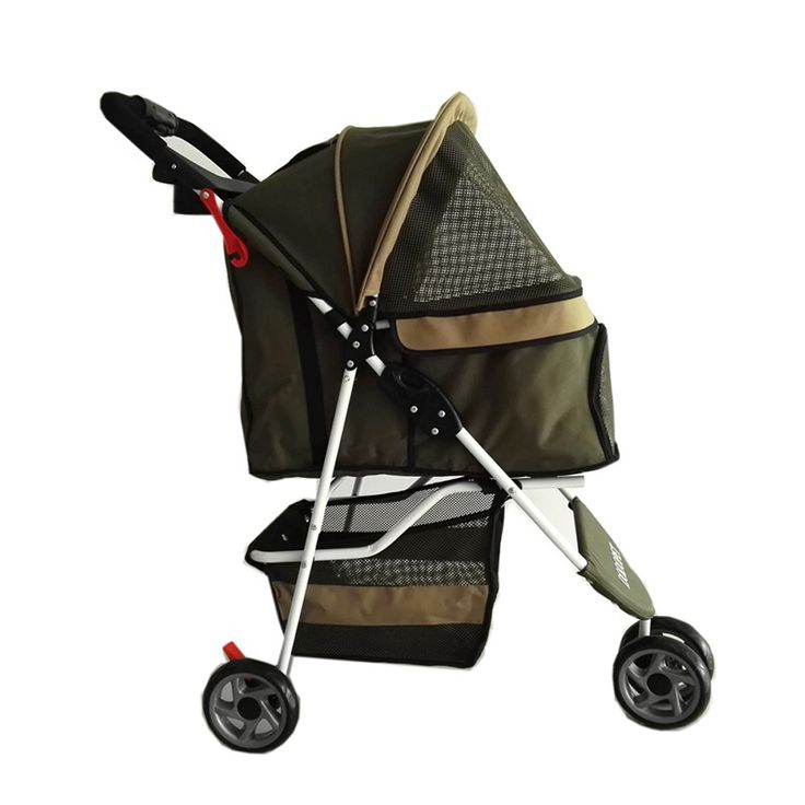 Dog Car Seat New 2016 High Quality Pet Strollers For Medium Dog Load 15kg Waterproof Oxford 3 Wheels Pushchair For Sale Army