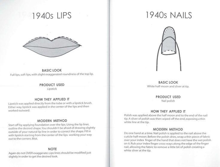 vintage makeup tutorials for lips & nails