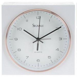 Kwadratowy zegarek budzik - White