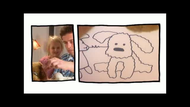 """TV DRAWING FOR KIDS Some years ago I participated in a series of ten tv shows for children, produced by DR B&U. The show is called """"Snip Snap Snude"""" and is still regularly shown on the DR channel Ramasjang. This clip is a sample from the episode where I draw Maia's story of cuddly animals meeting a brutal hunter …"""