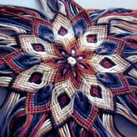 Mandala Flower . On the site a guide how to make it