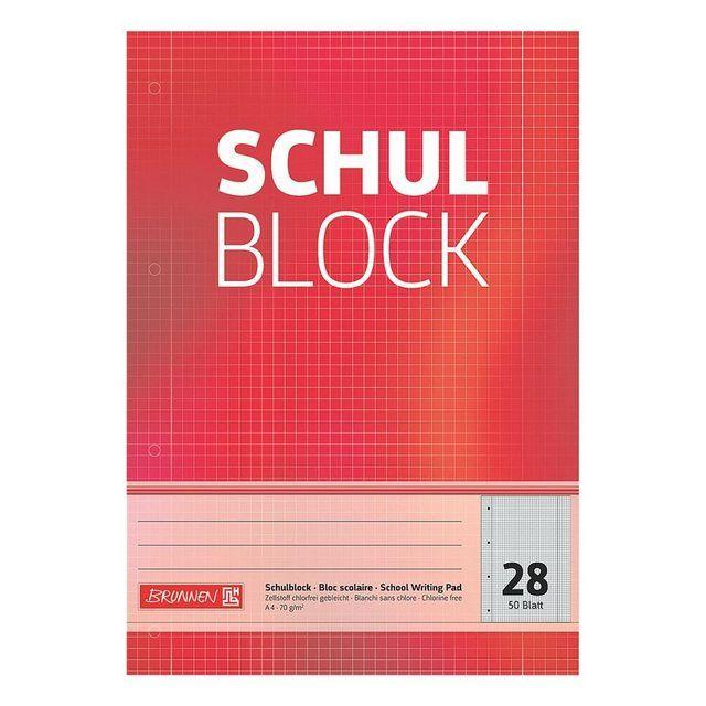 Schulblock A4 Kariert Lineatur 28 1052528 Calm