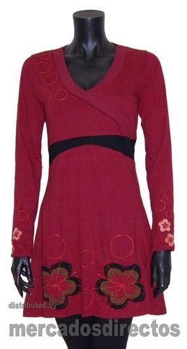 Vestidos con Bordados de Flores de Colores. Comando Pirata® -OUTLET online-Ropa y Complementos Moda