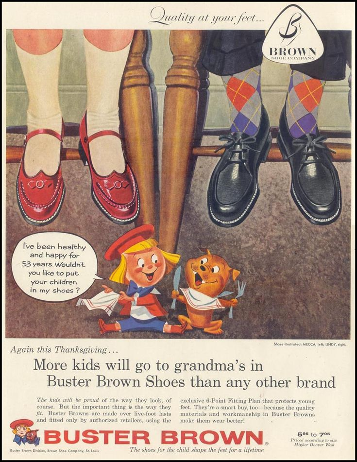 Buster Brown Shoes History