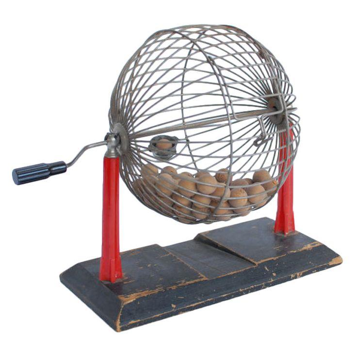Vintage bingo Cage
