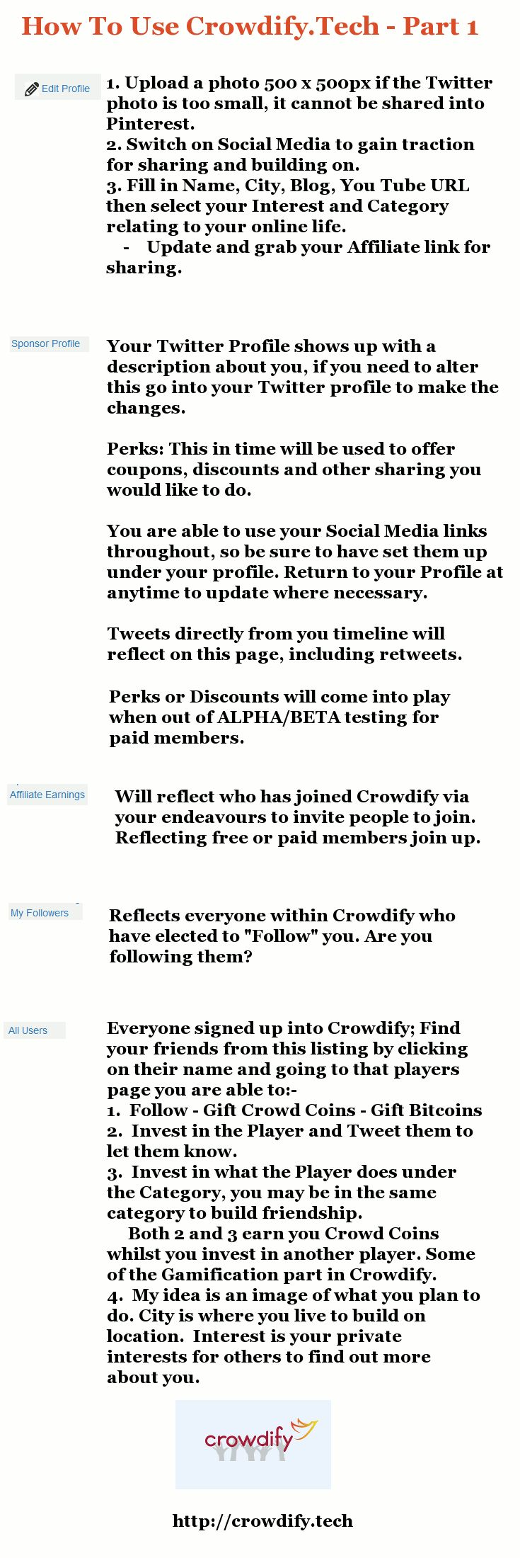 Maximum effect is to set up correctly - Portfolio is your brand, here are the first 5 steps on Crowdify.tech to get you going - Sign up using Twitter here http://blogbizbuzz.com/CrowdifyTech/
