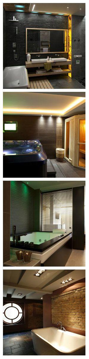 LEDNEWS.RU - Новости LED индустрии Темные тона в ванной и подсветка  Темные тона в ванной комнате вполне приемлемы, особенно если присутствует оригинальная подсветка. #освещение #светодиодноеосвещение #подсветка #светодиоднаяподсветка #светвванной #яркийсветвванной #светвваннойкомнате #ванная #дизайнванны #дизайнваннойкомнаты #освещениепомещений #LEDNEWS