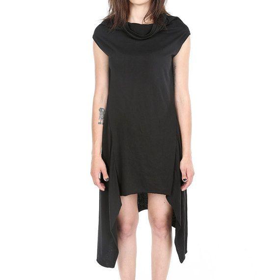 Drapiert Darkwear lange Avantgarde Tunika von ANDADAclothing