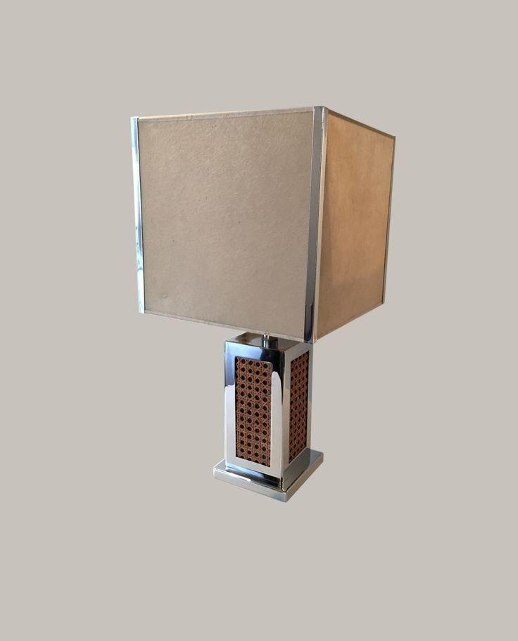 lampe de salon avec cannage 1970 - Lampe De Salon