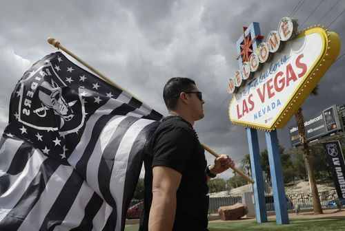 AP                  Published 6:47 p.m. ET March 28, 2017   Updated 1 hour ago        Matt Gutierrez carries a raiders flag by a sign welcoming visitors to Las Vegas, Monday, March 27, 2017, in Las Vegas. NFL team owners approved the move of the Raiders to Las Vegas in a vote at an...  http://usa.swengen.com/las-vegas-welcomes-raiders-with-open-arms-big-hopes/