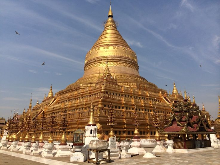 Shwezigon Pagoda in Nyaung-U, Mandalay Region