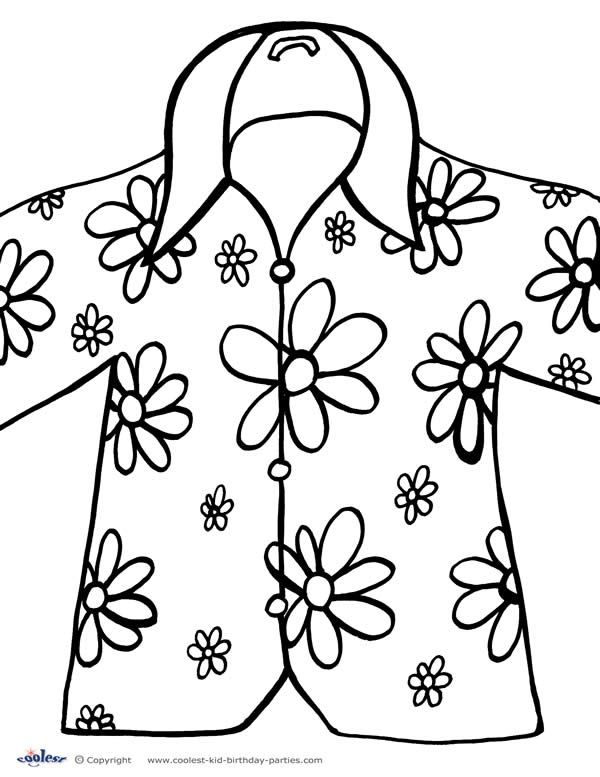 kids hawaii flowers coloring pages - photo#25
