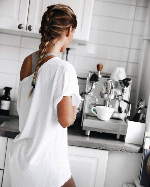 morning, white, and braid image