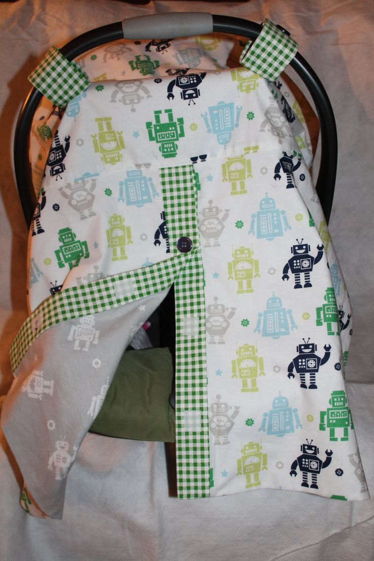 Baby Carrier Cover With Robots By Smalltownstitchin On