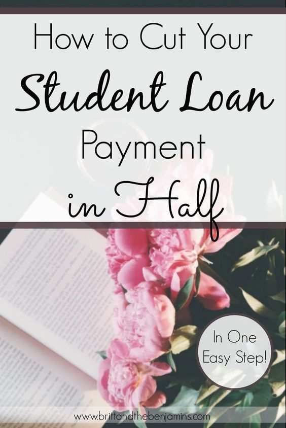 Want to cut your student loan payment in half, pay it off early, and save thousands? Here's one easy step that can  accomplish all 3.  Paying Off Debt I Student Loans I Personal Finance I Saving Money I College