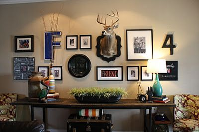 My Pinterest inspired family gallery wall!