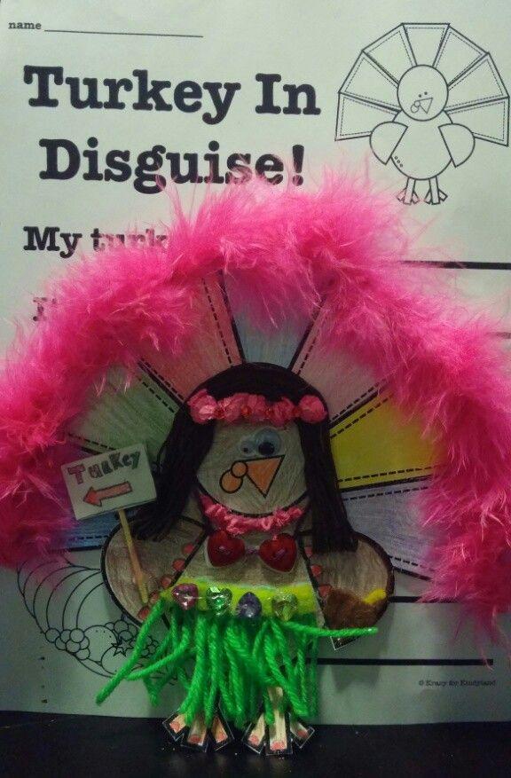 Turkey in Disguise (Hawaiian Hula Dancer)