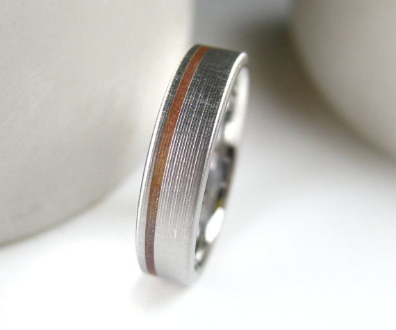 Copper Inlay Wedding Band, $229 | 34 Unconventional Wedding Band Options For Men