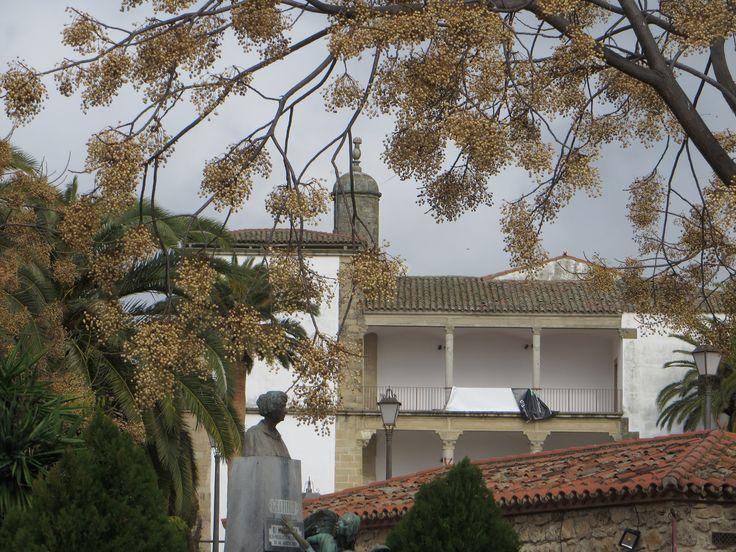 Palacio de Juan Pizarro de Aragón, calle Ruiz de Mendoza, Trujillo, province de Caceres, Estrémadure, Espagne.