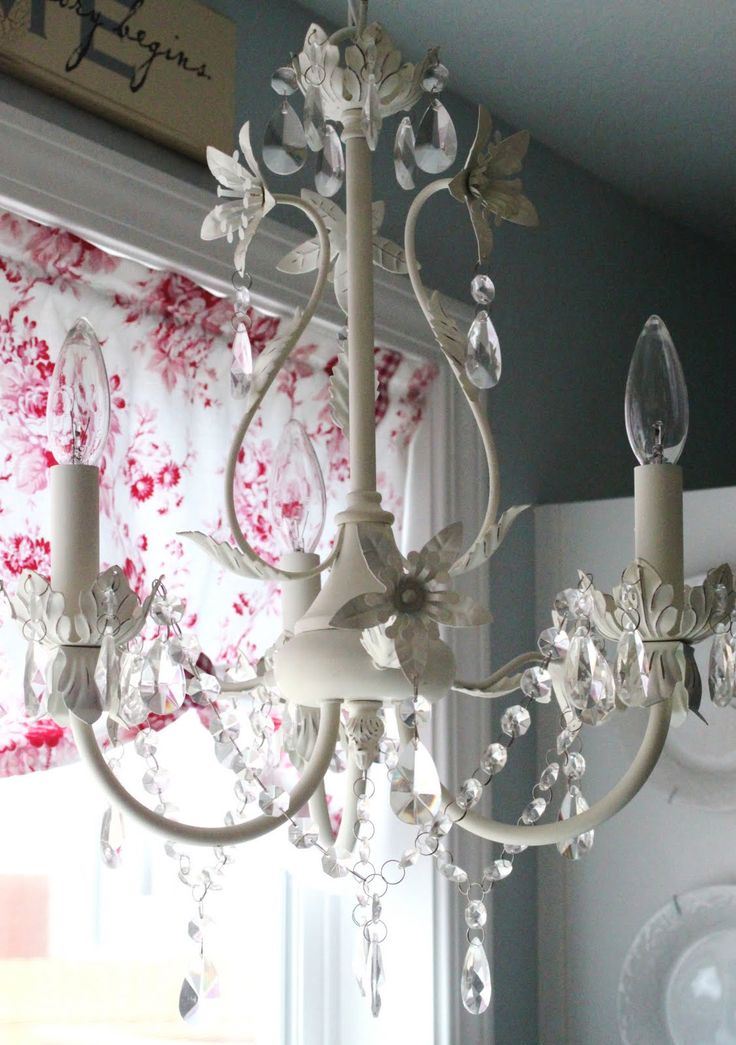 Vintage shabby chic chandelier 331 best images about shabby chic lamps amp chandeliers on aloadofball Gallery
