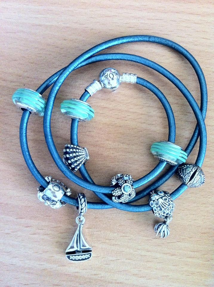 Ooh This Is Fun A Real Pandora Sea Theme Leather Bracelet