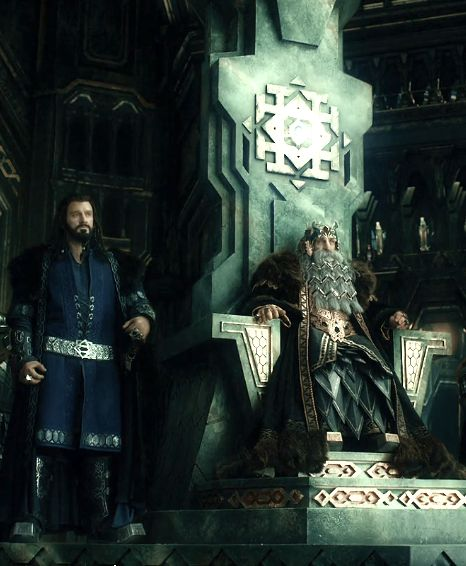 Uncle Thorin and Great-grandfather Thror in Erebor. Before Smaug. -Fili