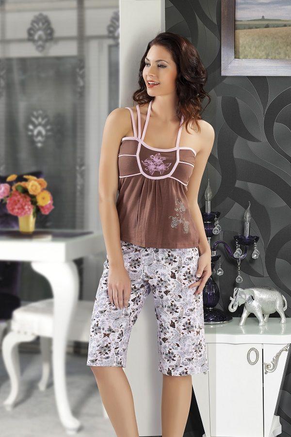 Maranda İç Giyim Pembe Askılı Pijama Takımı | Fantazigiyim.com