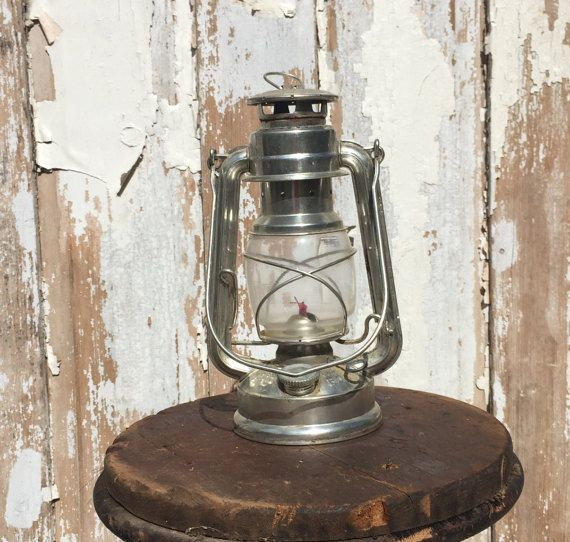 Vintage Silver Feuerhand Baby 275 Oil Lantern by BirchEdenVintage
