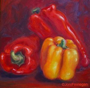 Pepper Trist by Joan Finnegan Oil ~ 10 x 10   $325