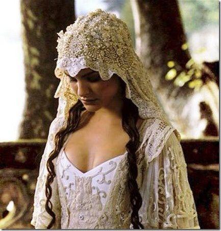A romantic wedding dress
