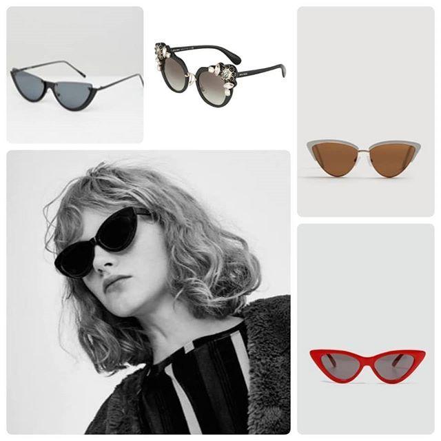 Si estabas buscando unas gafas de sol ponte en modo animal.  Las gafas cat eye u ojo de gato son tendencia y las puedes encontrar para todos los gustos.  Son ideales para alargar el rostro y si las eliges en un color favorecedor te alegrarán mucho la cara.  Te apuntas a la mirada felina?  . . . . . #gafasdesol #sunglasses #tendencias #trends #trendy #moda #estilo