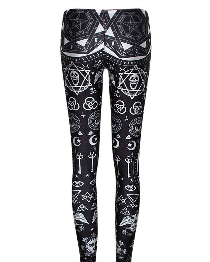 Our new #occult leggings are here! Shop://http://creaturecraft.co #666 #goth #gothgirl #occult #satanic #occultclothing All the Satanic Clothing you need at http://ift.tt/2e72FYe