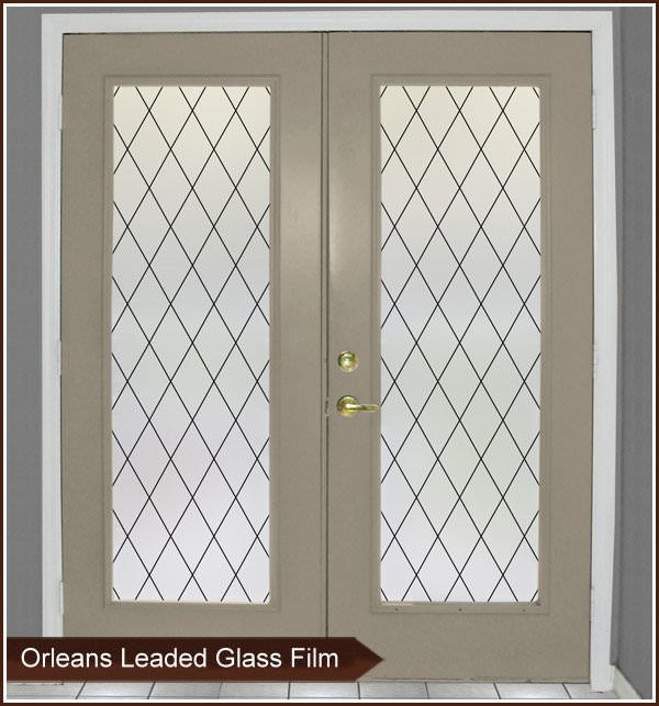 Orleans Leaded Glass Window Film - Frosted Glass Film