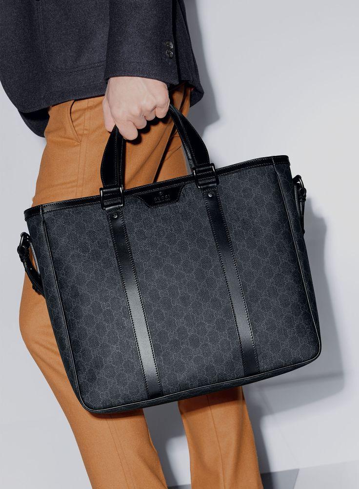gucci man bag. gucci pre-fall 2014: gg supreme canvas tote man bag