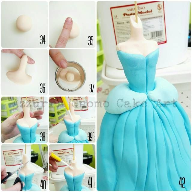 """Cinderella complete pictorial"" #2: N°34/46: upper body - CakesDecor"