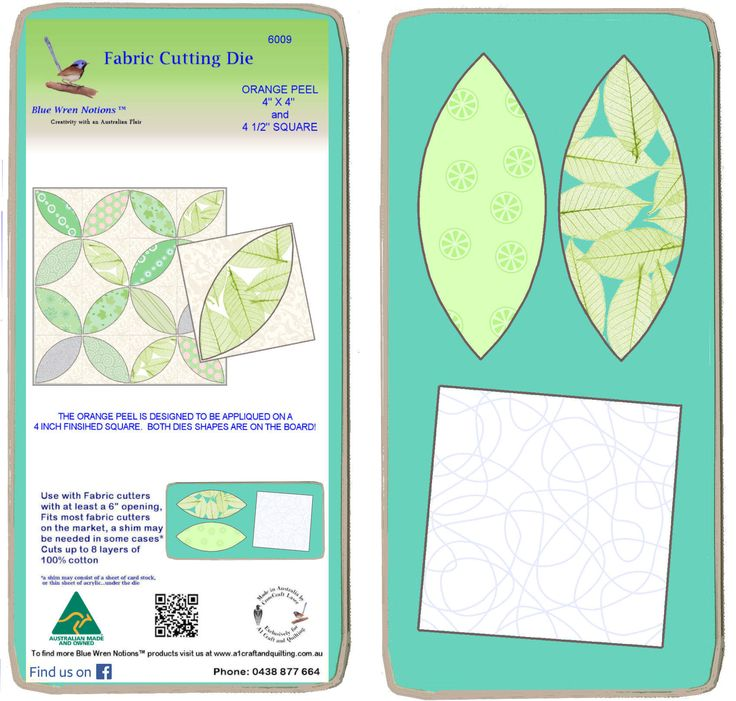 """Orange Peel 4"""" x 2 and 4"""" finished square Combo - 6009 - includes cutting mat"""