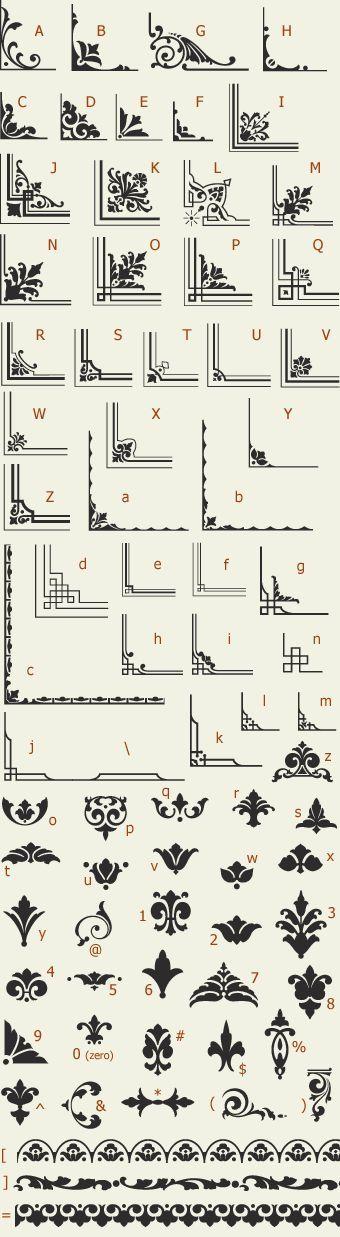 Letterhead Fonts / LHF Saratoga Ornaments / Ornaments and Dingbats NOT FREE More | https://lomejordelaweb.es/