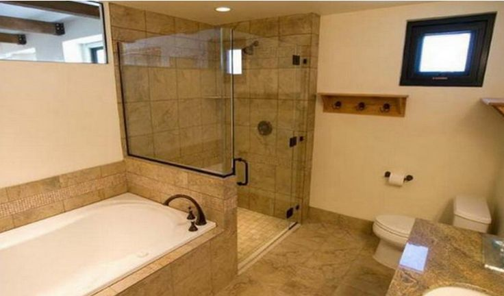 Shower tub bathroom showers and separate on pinterest for Bathroom tub and shower designs