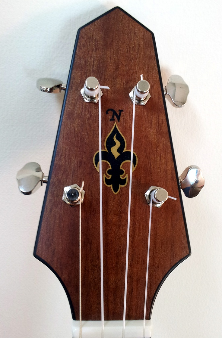 Compass Ukulele... awesome peghead! more info here http